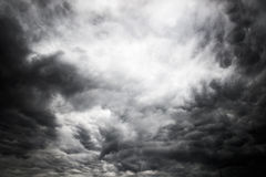Clouds in cloudy sky. Sky very clouded on the verge of raining Stock Images