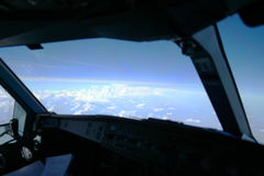 Clouds from the cockpit Royalty Free Stock Images