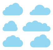 Clouds vector collection. Cloud computing pack. Clouds collection. Cloud shapes pack. Vector Vector Illustration