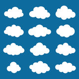 Clouds collection. Cloud shapes pack. Vector. Royalty Free Stock Photos