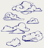 Clouds collection Stock Photo