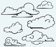 Clouds collection Royalty Free Stock Photo