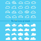 Clouds collection - Set of clouds icons Stock Images