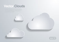 Clouds collection. Vector background. royalty free illustration
