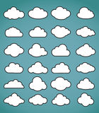 clouds collection Royalty Free Stock Image