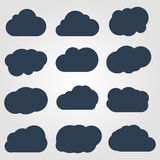 Clouds collection. Vector illustration EPS 10 Icon stock illustration