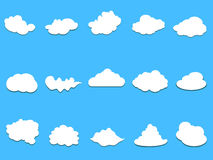 Clouds collection Royalty Free Stock Photos