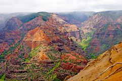 Clouds and Colors in a Canyon Stock Photo