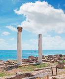 Clouds and columns Royalty Free Stock Photography