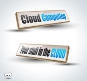 Clouds Computing 3D Panels Stock Images