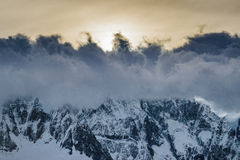 Clouds Cover Andes Mountains El Chalten Argentina Stock Photo