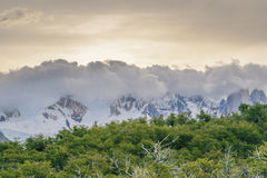 Clouds Cover Andes Mountains El Chalten Argentina Royalty Free Stock Photo