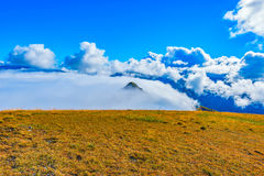Clouds cover mountain. Royalty Free Stock Photography