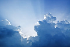 Clouds cover the sun Royalty Free Stock Images