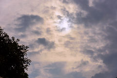 Clouds cover the sun Stock Photos
