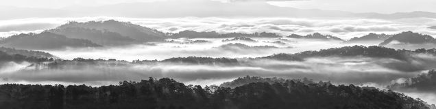 Clouds covered the highlands of Dalat Stock Images