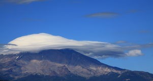 Clouds Covering Mount Shasta Stock Image