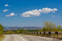 Clouds in Crimea. Clouds over the road in Crimea, beautiful mountain landscape Stock Image