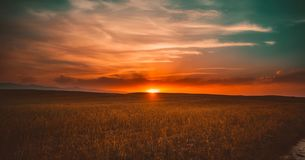 Clouds, Cropland, Crops Royalty Free Stock Photos