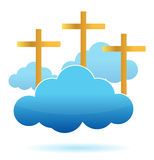 Clouds and crosses illustration design Stock Photo