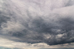 Clouds. Dark clouds coming to us royalty free stock image