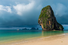 Clouds dark and gloomy over the resort of Thailand Royalty Free Stock Image
