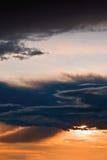 clouds dark red sky Стоковая Фотография RF