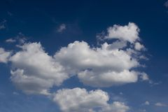 Clouds on dark sky Royalty Free Stock Photos