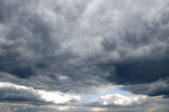 Clouds darkened the skies. Royalty Free Stock Images