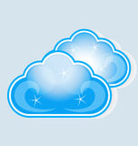 Clouds data computing storage. Clouds data computing concept render template image vector Stock Photography
