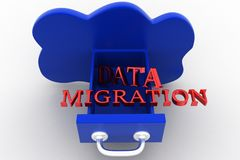 Clouds data migration Stock Images