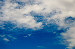 Clouds and deep blue sky Royalty Free Stock Image
