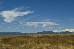 clouds den colorado framdelen över område Royaltyfri Bild