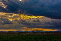 clouds den dramatiska stormen Royaltyfri Fotografi