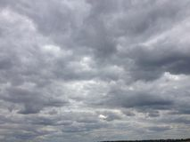 clouds den mörka skyen Royaltyfria Foton