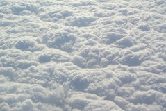 Clouds. Dense clouds under the texture Stock Image