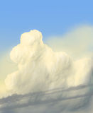 Clouds / digital painting / illustration. Cloud in the blue sky Stock Photography