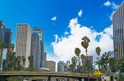 Clouds in downtown L.A. Royalty Free Stock Photos