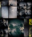 clouds dramatiskt royaltyfri illustrationer