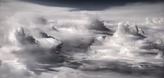 clouds dramatiskt Arkivbild
