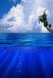 clouds dramatiskt vatten stock illustrationer