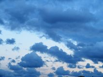 Clouds in an early evening winter sky over South County Dublin. Clouds in the early evening winter sky over South County Dublin royalty free stock photography