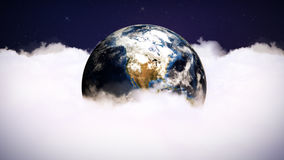 Clouds and Earth Computer Graphics, Rendering, Background, Loop, 4k Royalty Free Stock Photos
