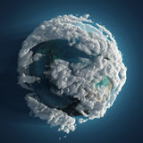 Clouds earth in space. Clouds small planet in space Stock Photos
