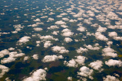 Clouds and the Earth surface. Stock Image