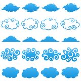 Clouds. Elements for design.
