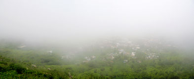 Clouds engulf Nova Sintra Stock Images