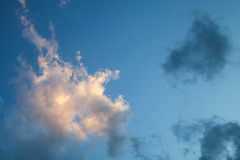 Clouds on evening sky, background texture Stock Images