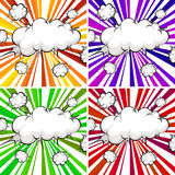 Clouds explosions Stock Photo
