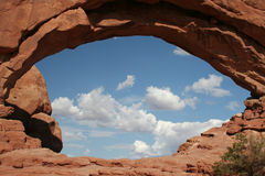 Clouds in eye. Arches national park, utah, usa Royalty Free Stock Photo